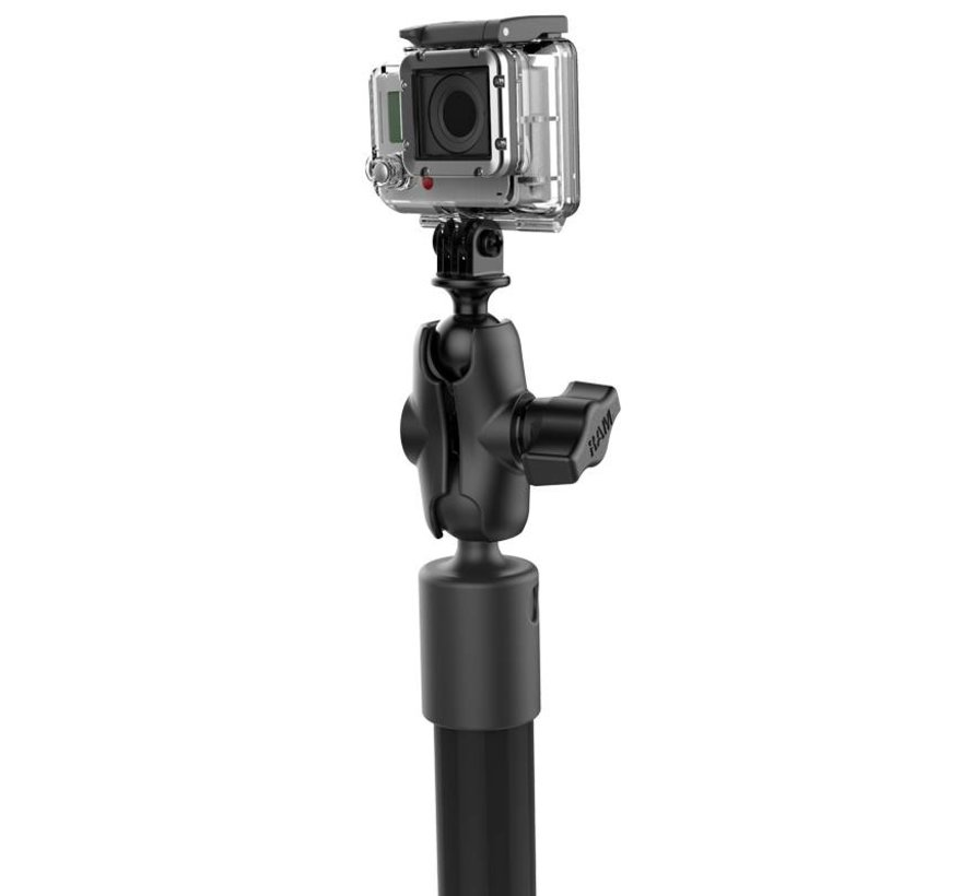 Tough-Pole™ Action Camera Mount met Track Base