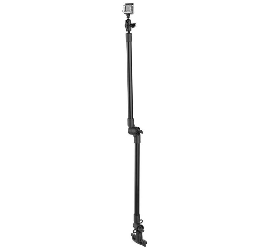 Tough-Pole™ Action Camera Mount met Track Base (double pipe)