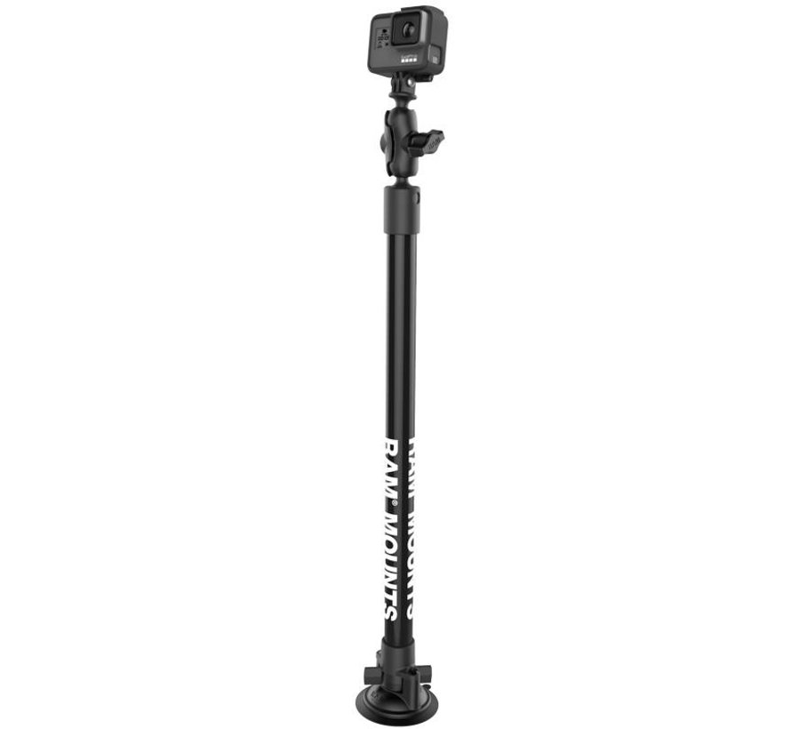 GoPro mount op zuignap met 45 cm buis