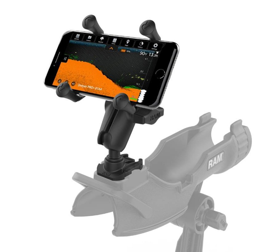 "ROD® HD Fishing Rod Holder with 6"" Spline Post RAP-433-NBU"