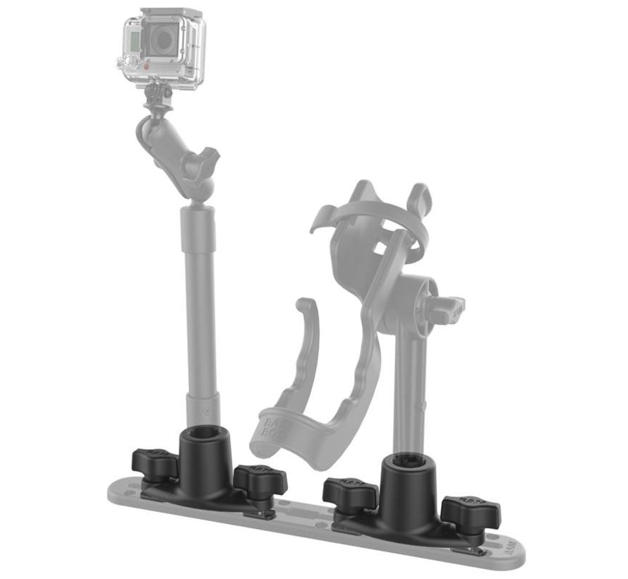 Dual T-Bolt Track Base for Spline Posts RAP-421