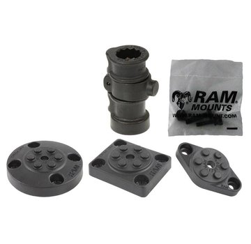 RAM Mount Adapt-A-Post™ Base met 3 Drill-Down Base Opties RAP-386B-AAPU