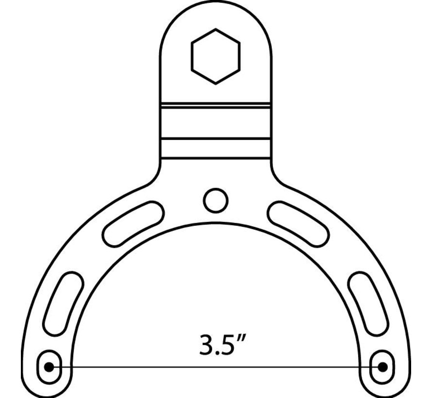 Benzinetank beugel small met B-kogel