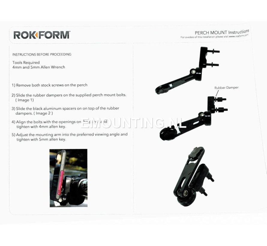 Motor Perch Mount voor Rokform case