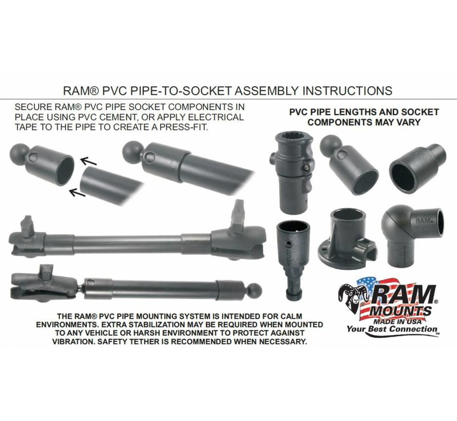 Double PVC Pipe Adapter with Ratchet Adjustability RAP-420-424U