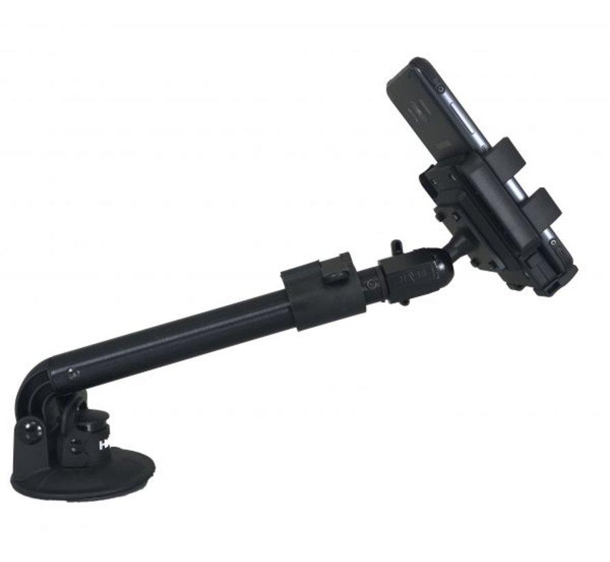 Telescopische smartphone houder met zuignap