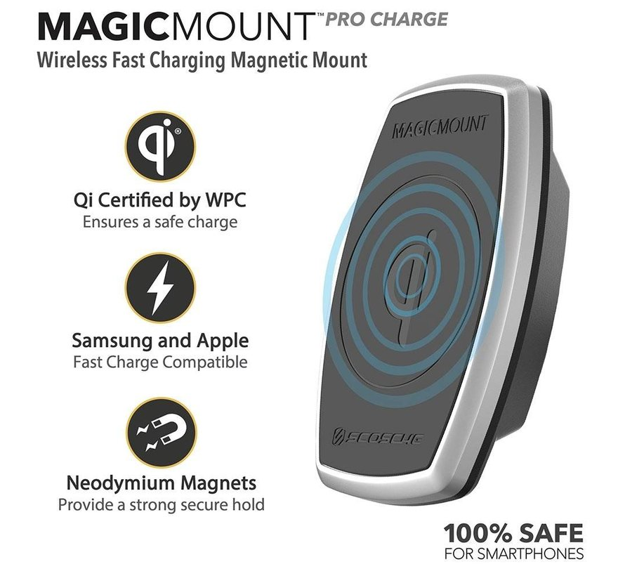 magicMOUNT™ Qi 10W Wireless Charger Ventilatierooster