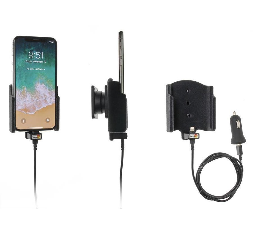 houder Apple iPhone X/XS (met Lightning USB kabel)