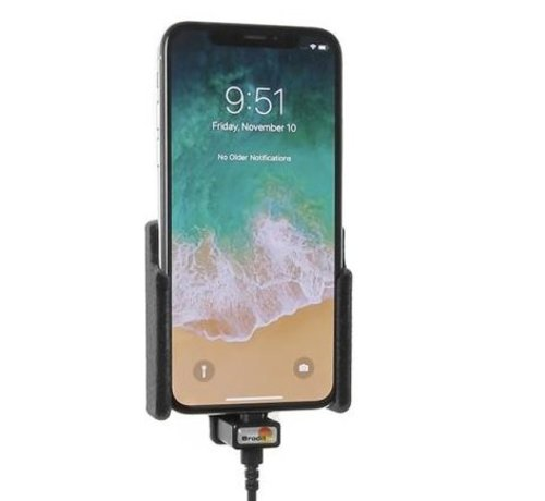 Brodit houder Apple iPhone X/XS (met Lightning USB kabel)