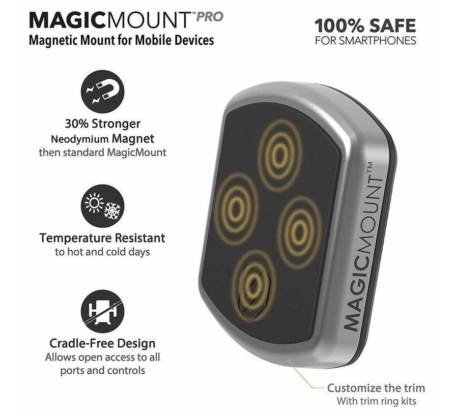 magicMOUNT™ PRO sticky zuignap met Magnetische Mount