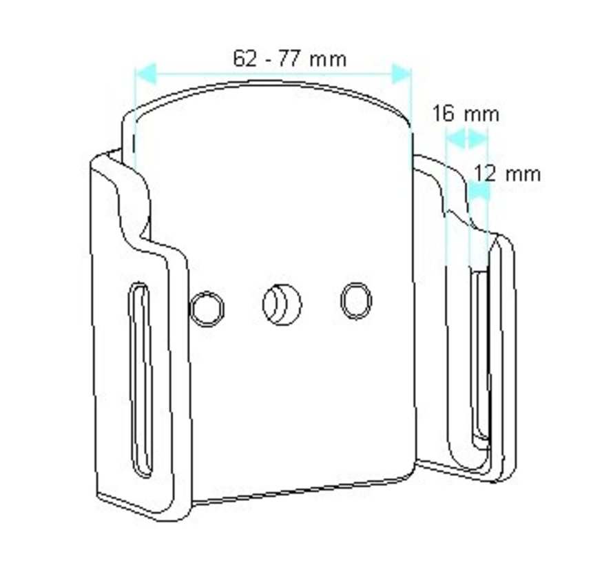 Medium Smartphone houder Universeel 62-77 en 12-16 mm