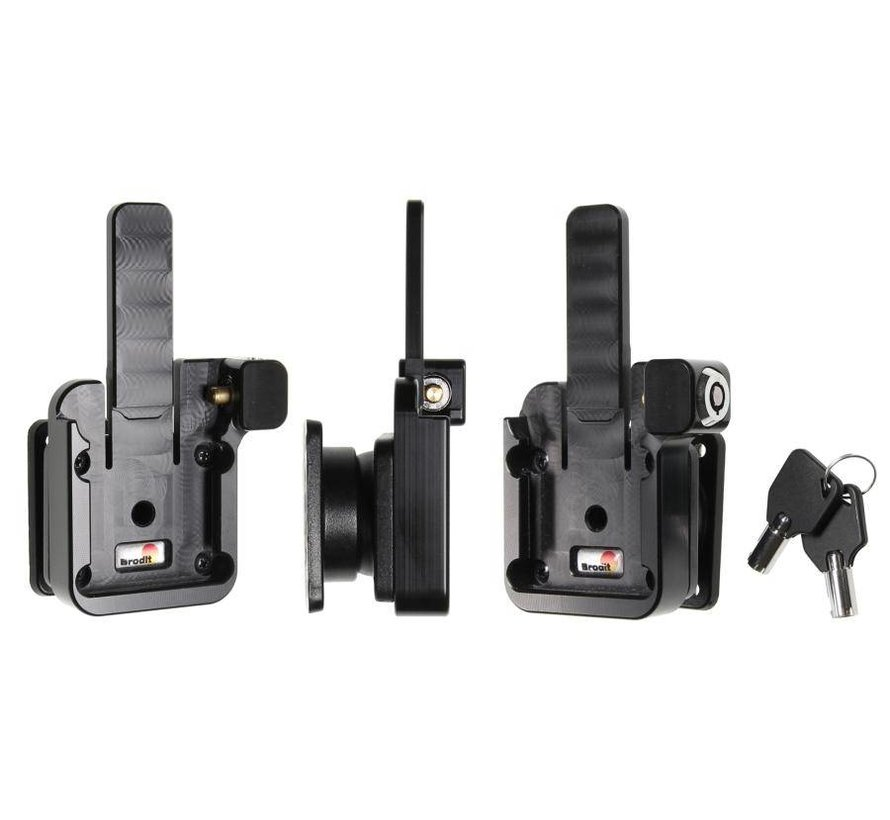 MultiMoveClip Long, with lock/key, with tilt-swivel