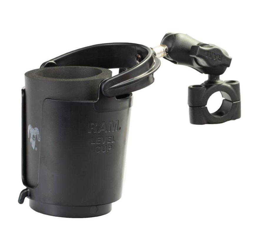 Torque™ stangbevestiging met klemhouder en Zelf-balancerende bekerhouder