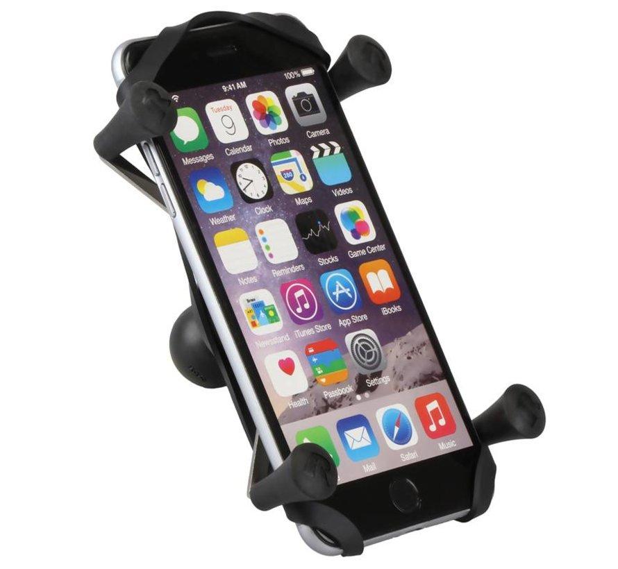 Torque™ large smartphone motorspiegel bevestigingset met X-Grip RAM-B-408-37-62-A-UN10 - Kort