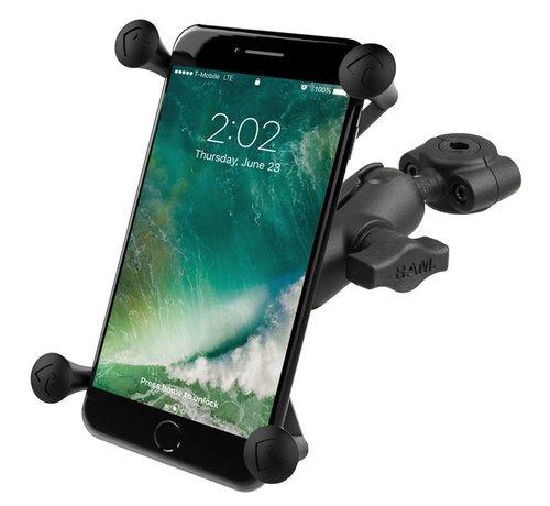 RAM Mount Torque™ large smartphone motorspiegel bevestigingset met X-Grip RAM-B-408-37-62-A-UN10 - Kort