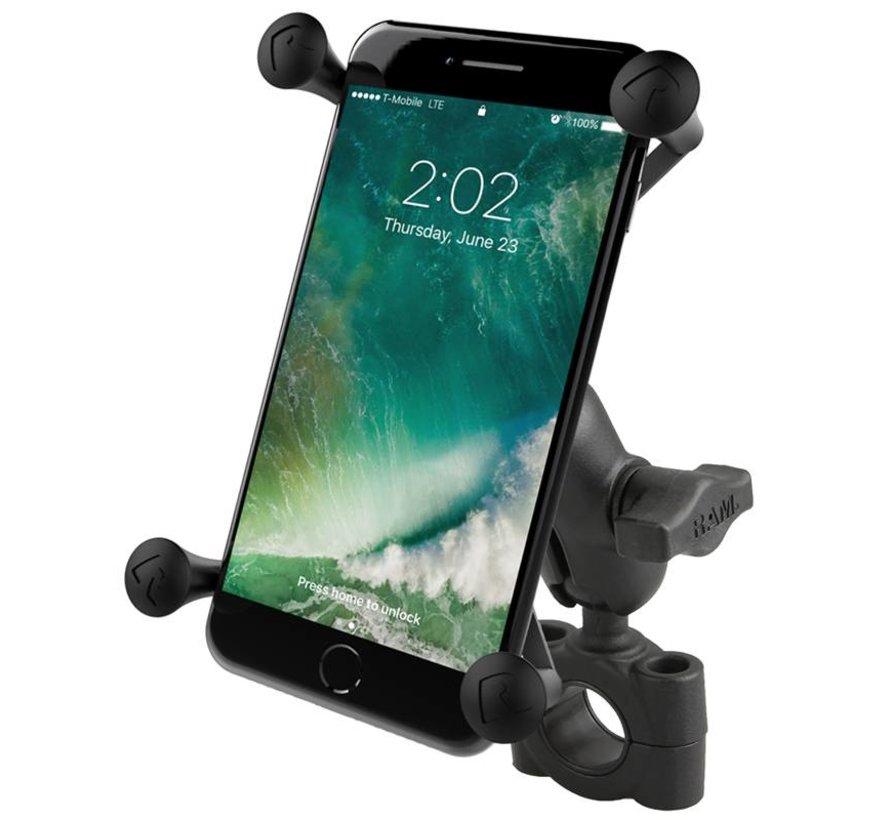 Torque™ large smartphone stangbevestigingset met X-Grip RAM-B-408-75-1-A-UN10U - Kort