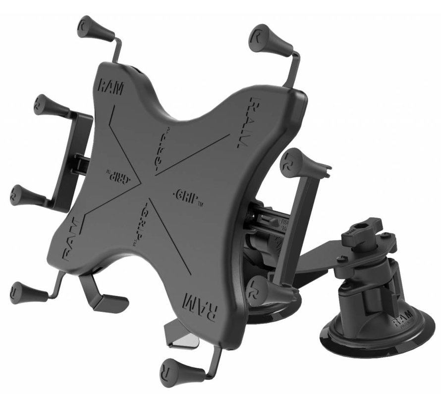 X-Grip 10 inch Tablet Houder Dual Articulating zuignap