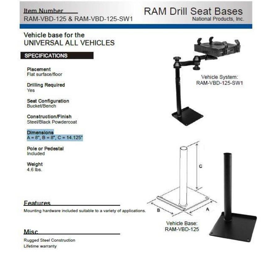 Universal Drill-Down Horizontal Laptop Mount