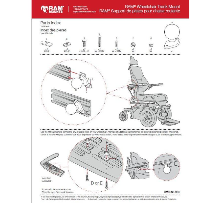 Universal Wheelchair Ball Base B-Kogel RAM-B=238-WCT