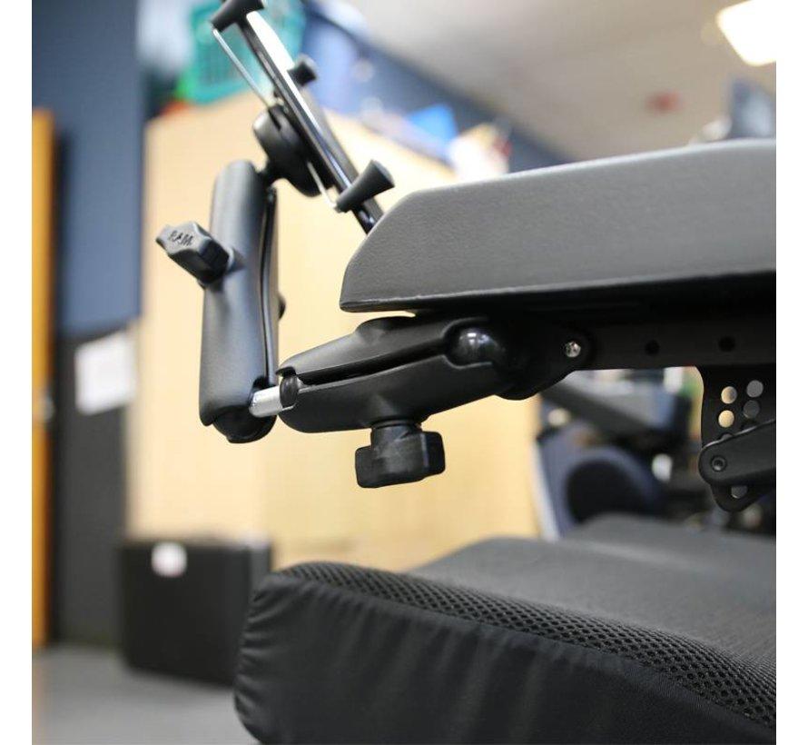 X-Grip smartphone set voor rolstoel armsteunrail