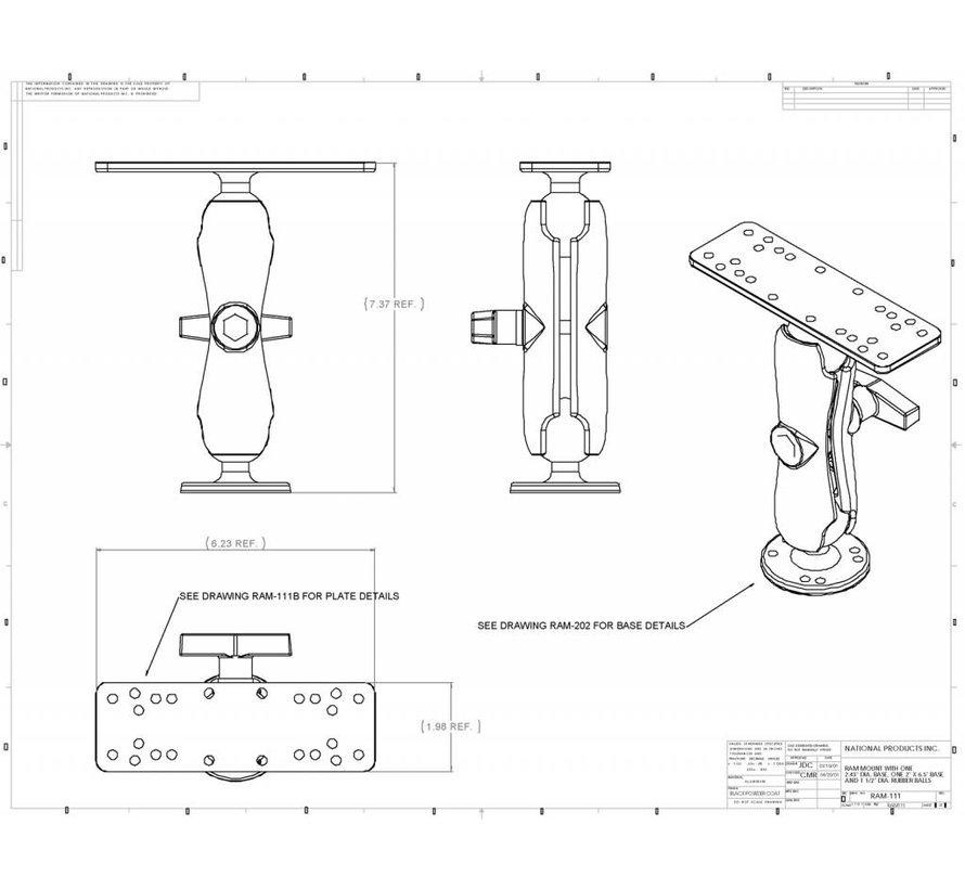 Electronica montage set C-kogel met Pin-Lock RAM-S-111U