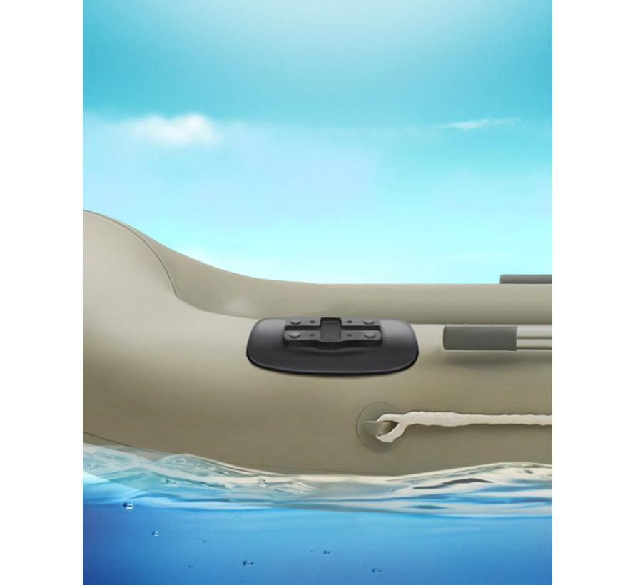 Plakbasis voor opblaasboten -
