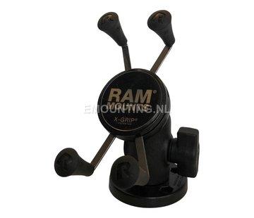 RAM Mount Composiet compacte schroefvaste X-Grip smartphone montageset