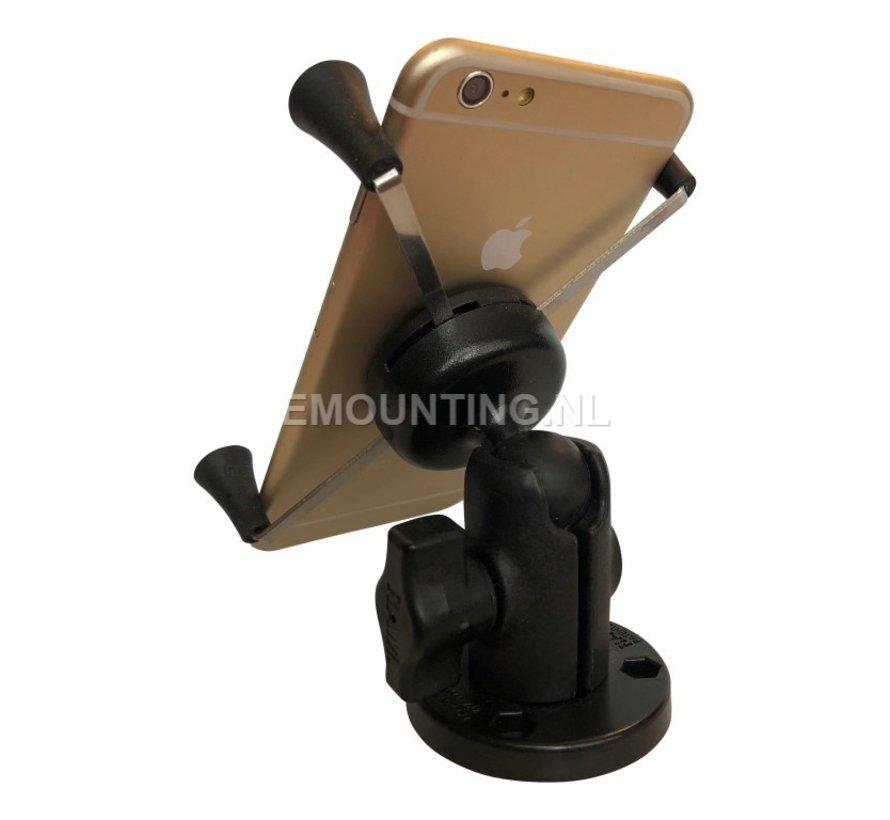 Composiet low profile schroefvaste Large X-Grip mount RAP-B-200-1-293-UN10U