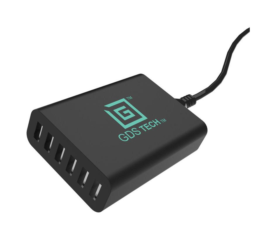 GDS® Intelligent 6-port USB Charger  5V/12A