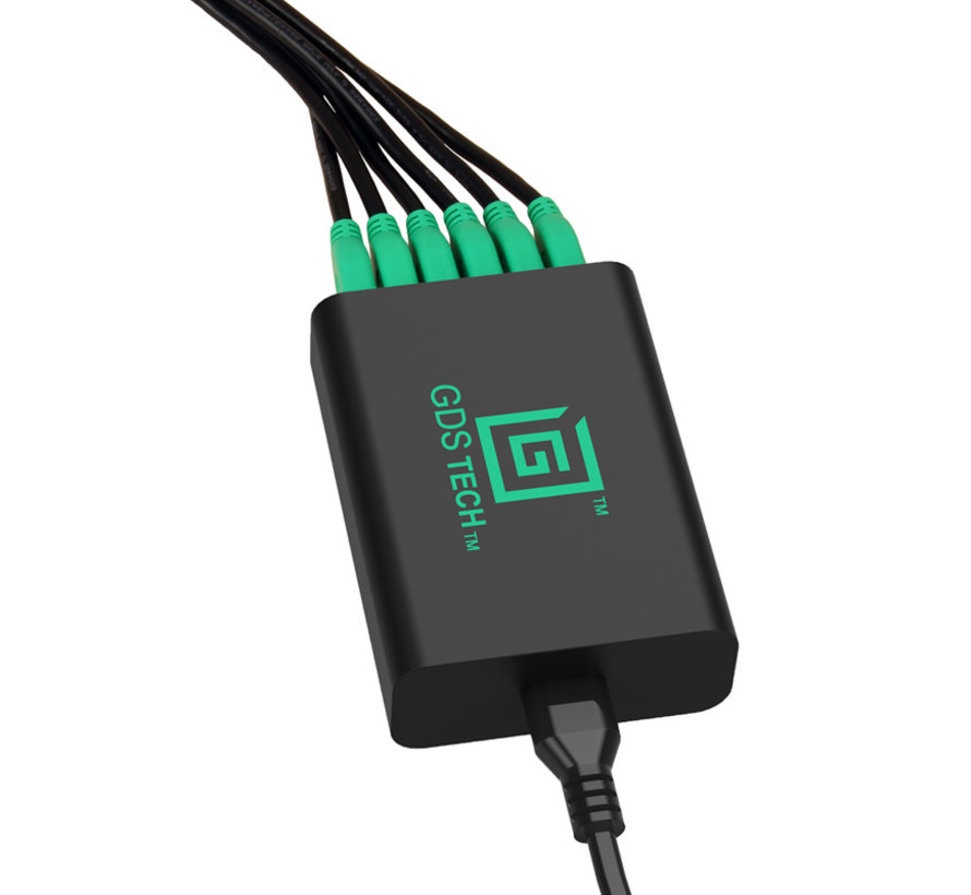 GDS® Intelligent 6-port USB Charger  5V/12A