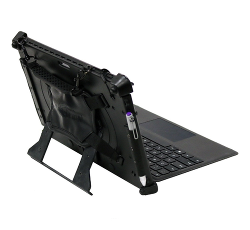 Rugged xCase for Microsoft Surface Pro met Type cover keyboard steun en snap mount