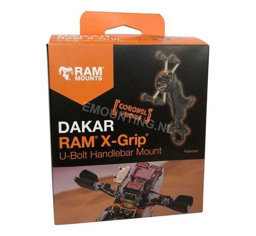 RAM Mount Dakar Coronel Proof X-Grip smartphone houder stuurstang set