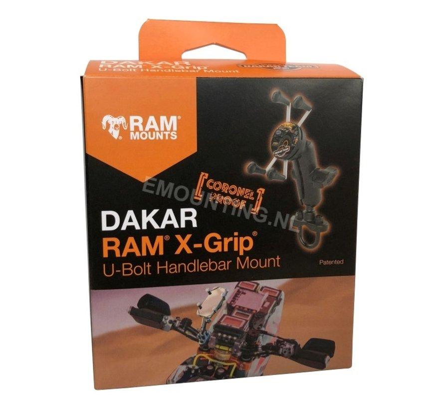 Dakar Coronel Proof X-Grip smartphone houder stuurstang set