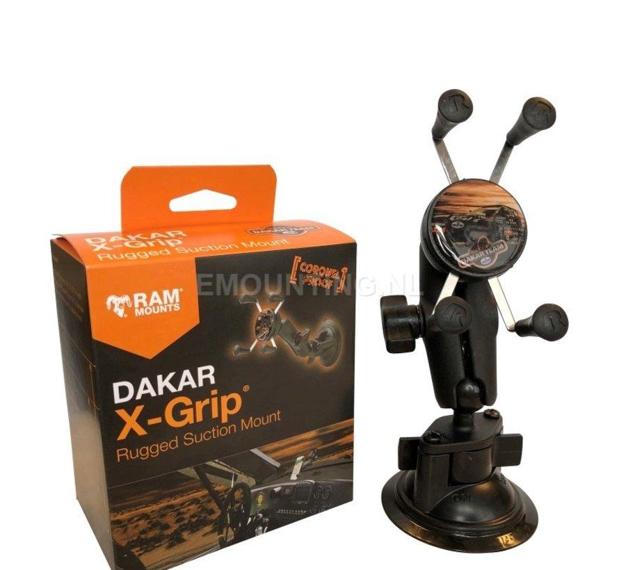 X-Grip Dakar Coronel Proof zuignapset Aluminium klemhouder