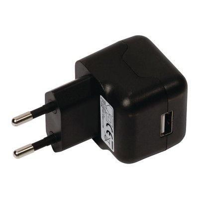 Universele USB tablet lader, 2.1 A, Zwart