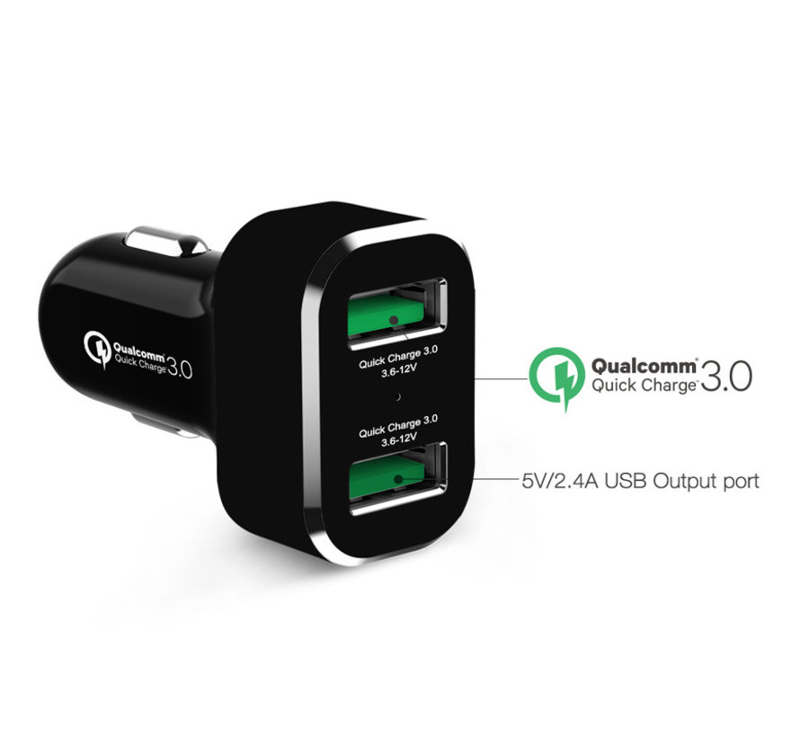 GDS® 2-Port USB Cigarette Charger with Qualcomm® Quick Charge™