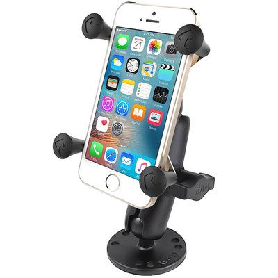 RAM Mount X-Grip smartphone schroefvast -Ronde base