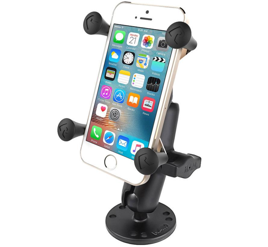 X-Grip smartphone schroefvast -Ronde base