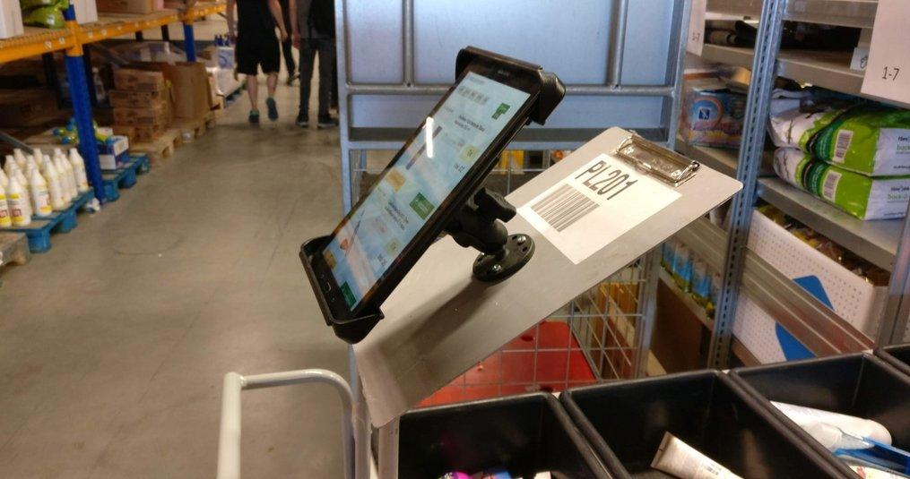 RAM Mounts Tablethouders voor orderpicken in webshop magazijn