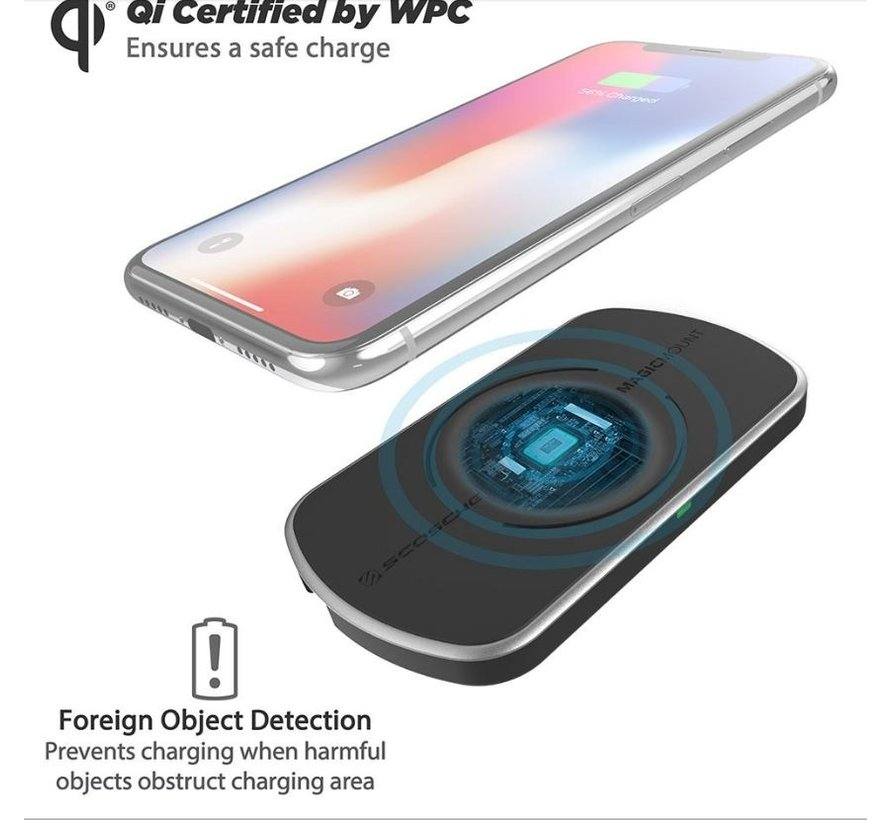 magicMOUNT™ Qi 10W Wireless Fast Charger Surface