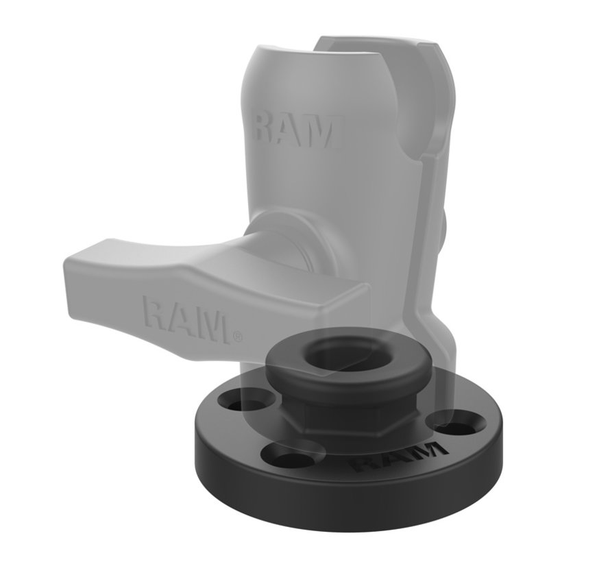 Round Base Adapter with Aluminum Octagon Button  RAM-324-OFU