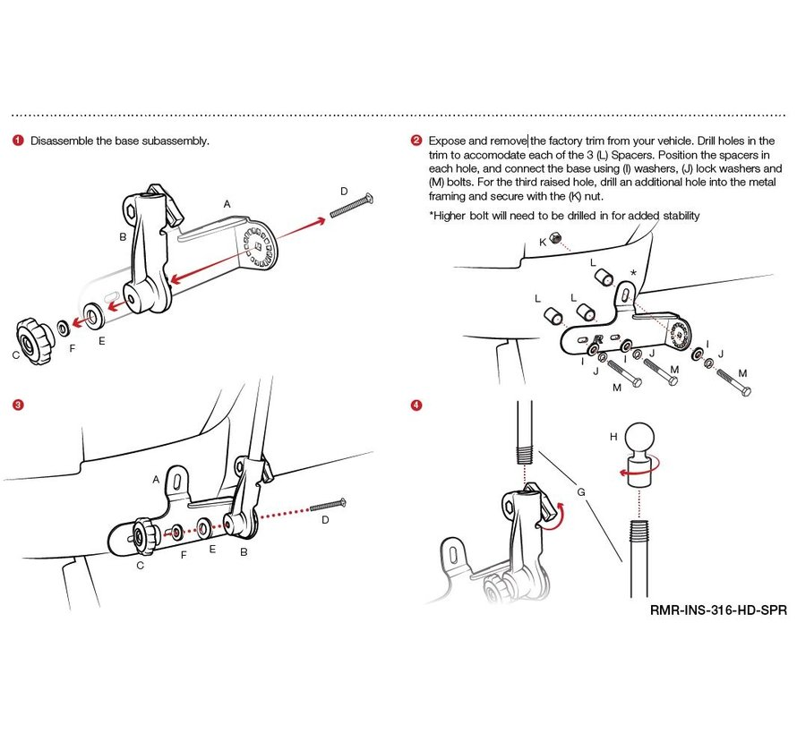RAM® Pod HD™ Vehicle Mount for '07-'19 Mercedes Sprinter Van