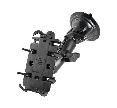 RAM Mount Quick-Grip™ klemhouder smartphones met zuignapset