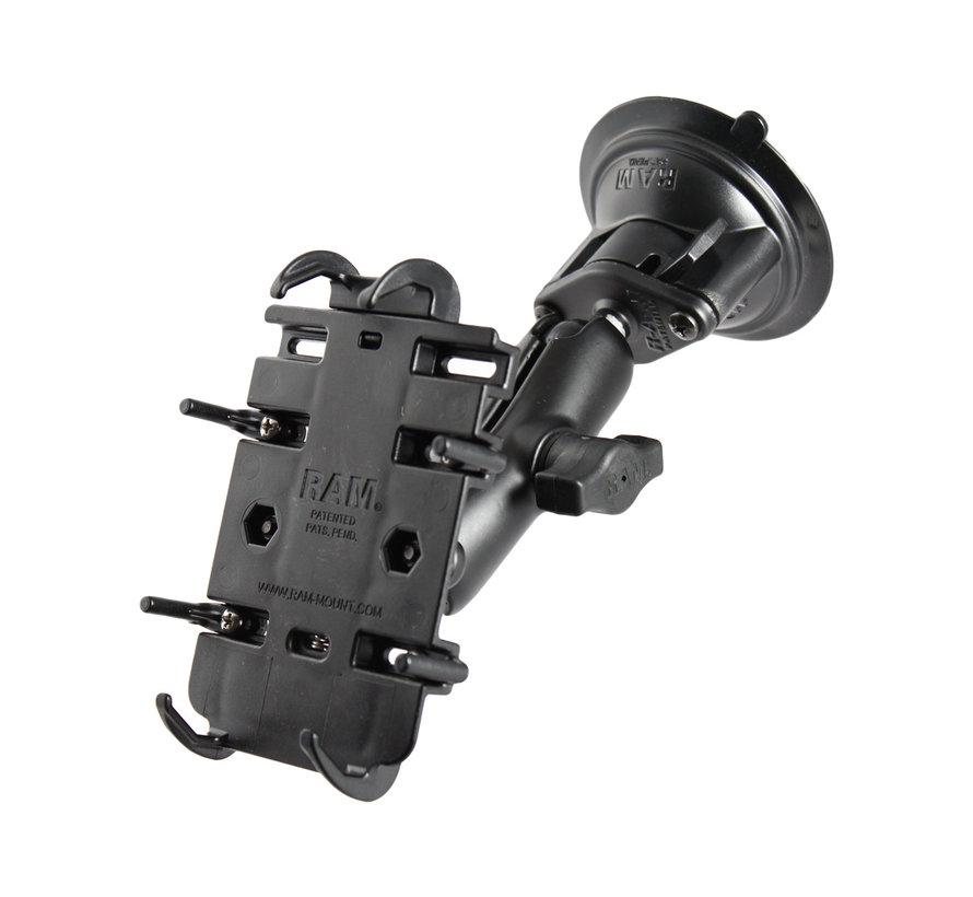 Quick-Grip™ klemhouder smartphones met zuignapset
