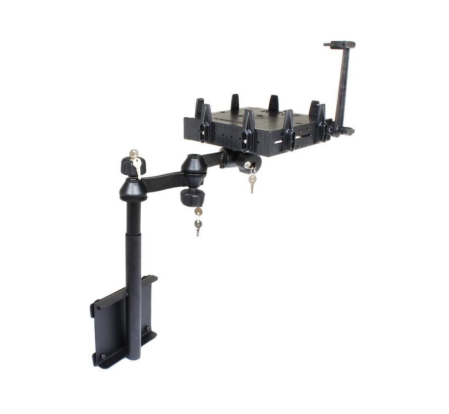 Verticale Double Swingarm voor anti-diefstal laptop montage RAM-VBD-128-SW1-TIM1