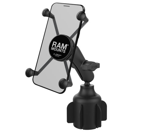 RAM Mount Stubby™ Cup Holder base met X-Grip large smartphone