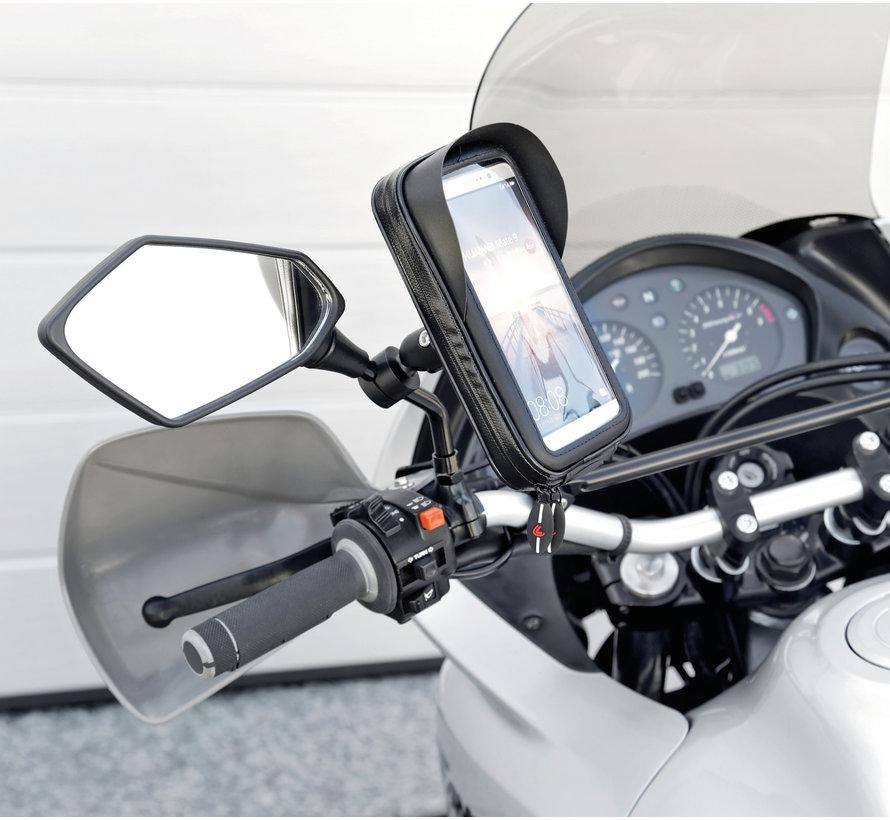 Opti-Mirror scooterspiegel  mount met waterdichte smartphone case