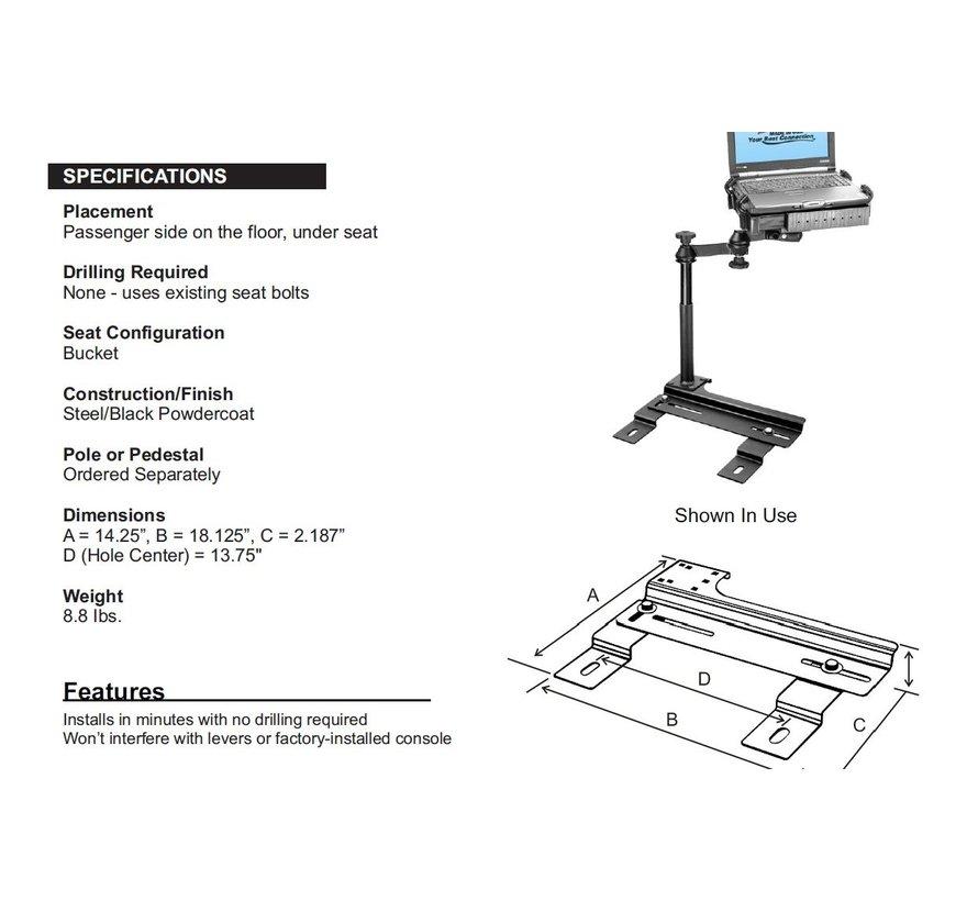 No-Drill™ Laptop Base PT CRuiser e.a.
