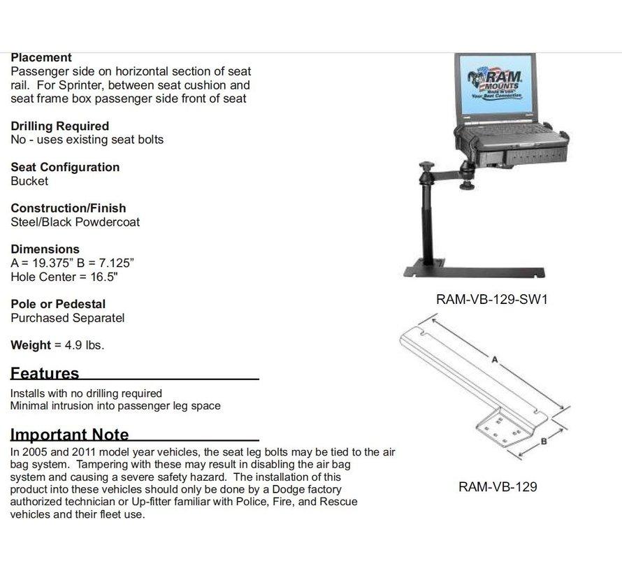 No-Drill™ Laptop Base Mercedes Sprinter