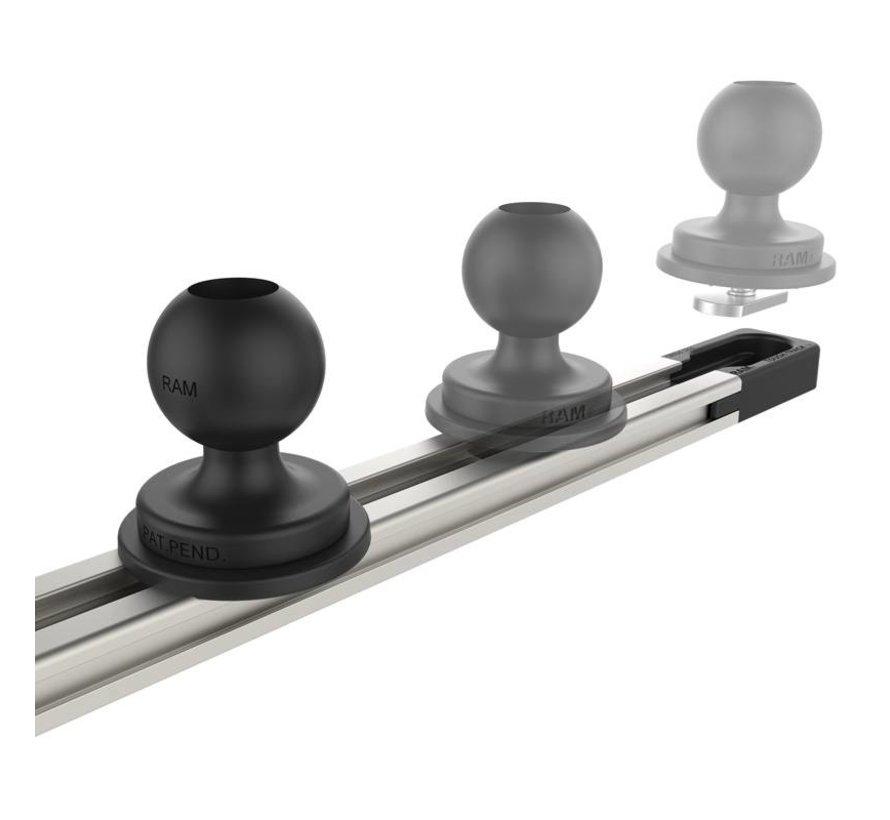 Tough-Track™ Aluminium Rail 230 mm RAM-TRACK-EXA-9Bu - Zwart